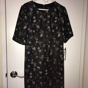 Rachel Roy Black Shimmer Floral Dress